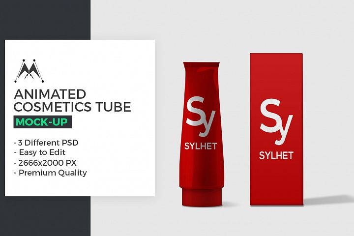 Animated Cosmetics Tube Mock-Up