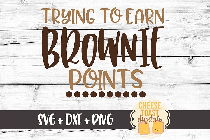 Trying to Earn Brownie Points - Oven Mitt - Pot Holder SVG
