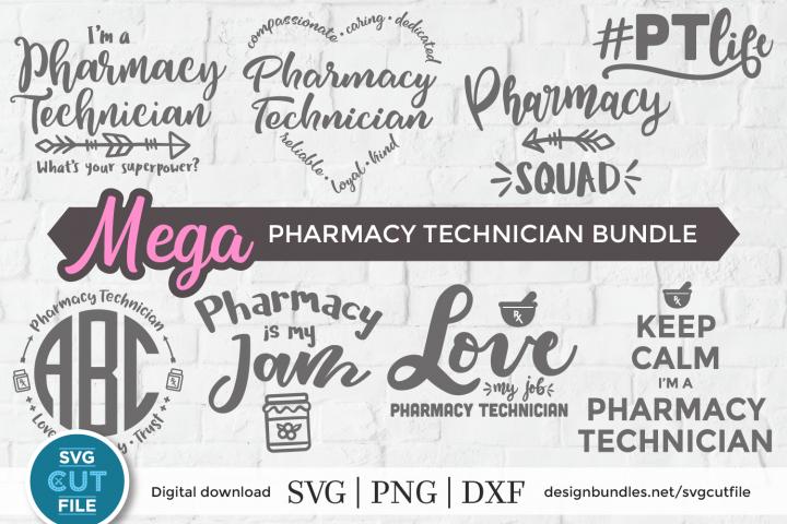 Pharmacy Technician svg bundle, radiology tech svg dxf png