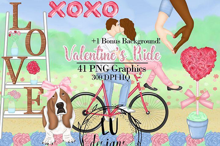 Valentines Ride Clipart, Romantic Graphics, Love Clipart