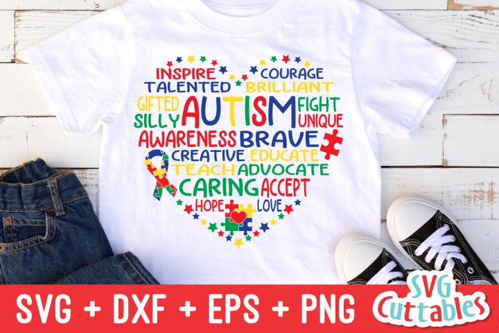 Autism Heart Subway Art | SVG Cut File