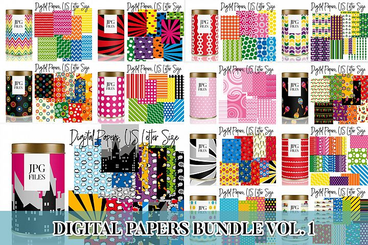 Digital Papers Bundle Vol. 1 - Background Patterns
