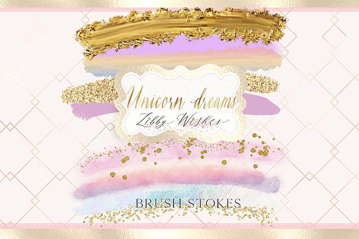 Brush stokes- Unicorn dreams