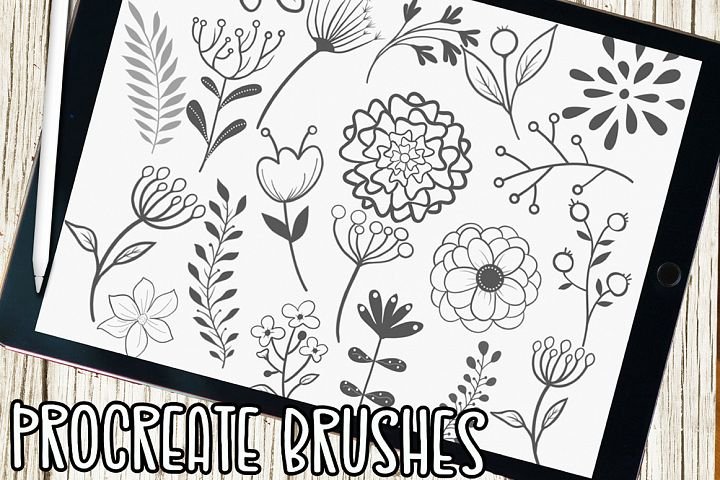 Procreate Botanical Brushes, Stamp Brushes,Flower Brushes
