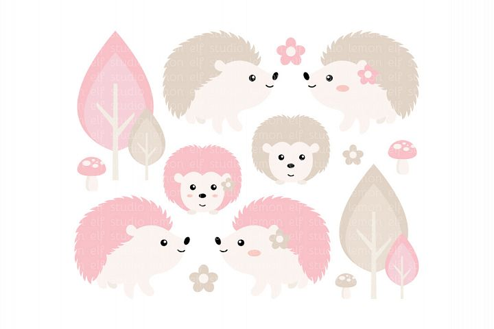 Hedgehogs-Digital Clipart (LES.CL55B)