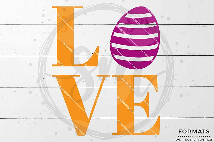 Easter Love svg Files for Cricut