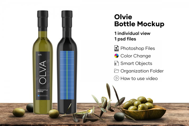 Olvie Bottle Mockup