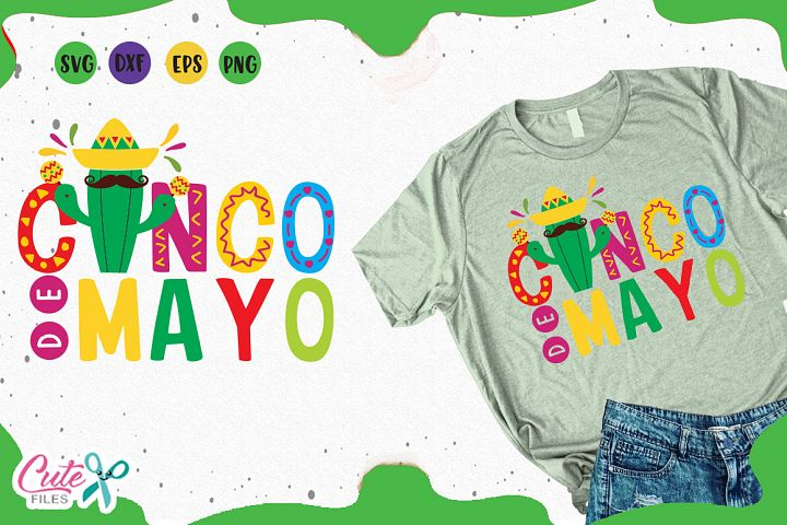 Cinco de mayo svg, mexican party cuts files for crafter