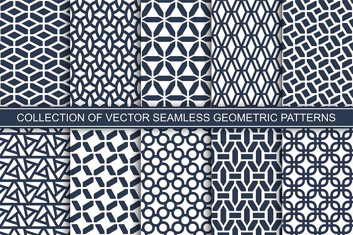 Seamless geometric ornament patterns