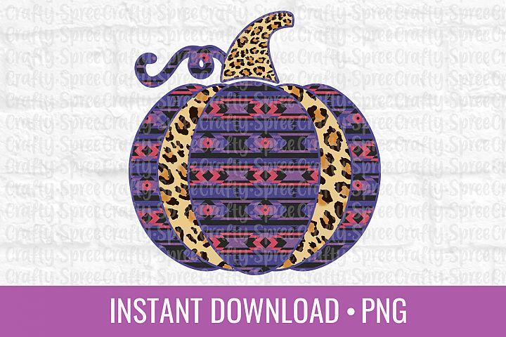Pumpkin Leopard Print Aztec PNG Sublimation DTG Design