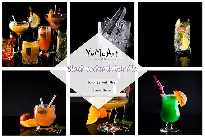 Bandle stock Cocktails on Black