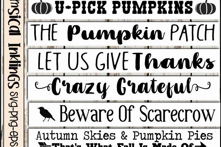 Fall Sign SVG Bundle