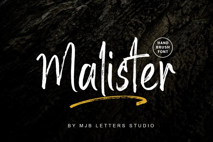 Malister | Strong Handbrush Font
