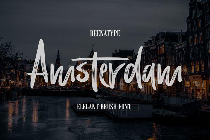 Amsterdam Brush Font