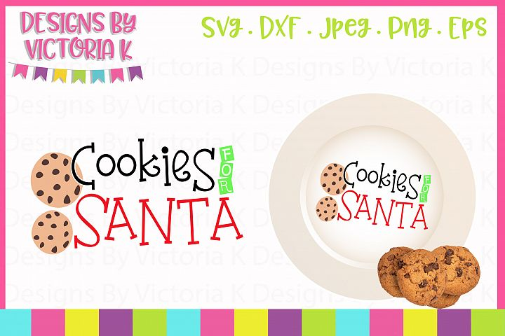 Cookies for Santa, Christmas, SVG, DXF, PNG