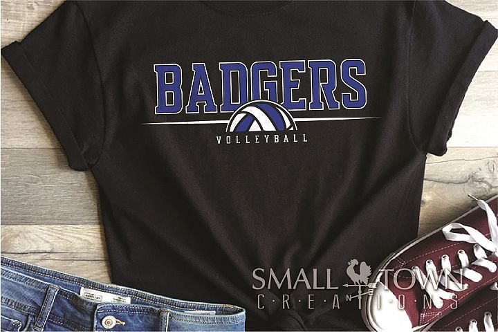 Badger, Badger Volleyball Team, Sport, PRINT, CUT & DESIGN