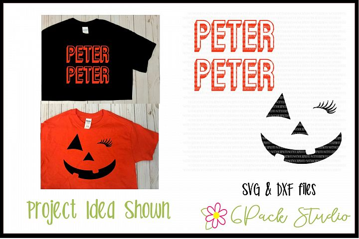 Peter Peter Pumpkin Eater - Adult SVG
