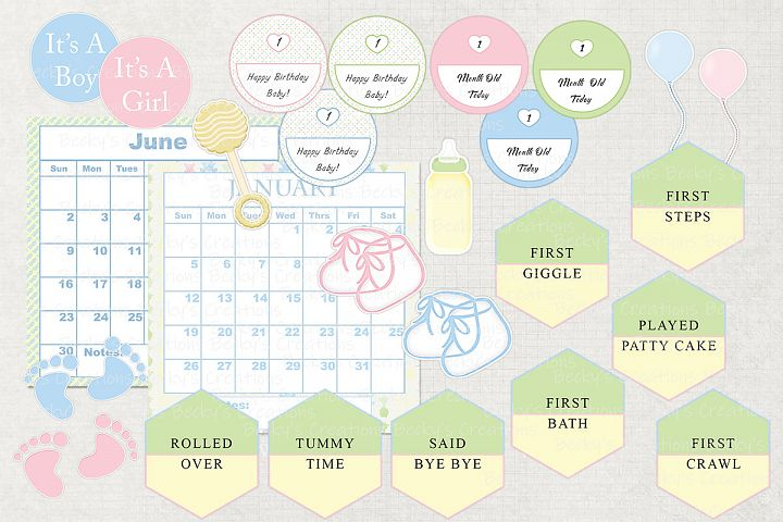 Welcome Baby Milestone Calendar