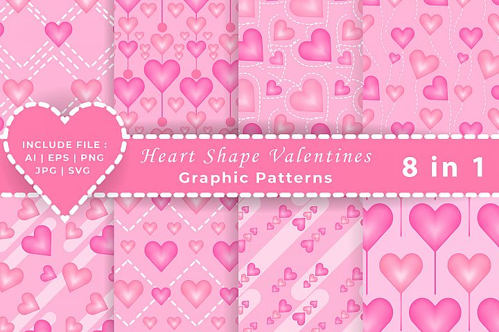 Valentines heart shapes Graphic Patterns