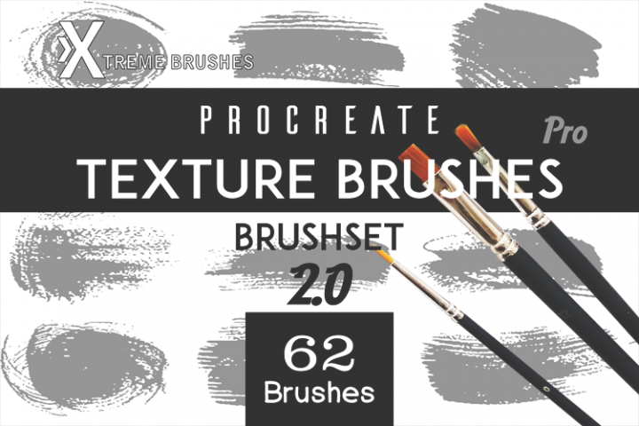 Procreate Texture Brushes PRO! 2.0