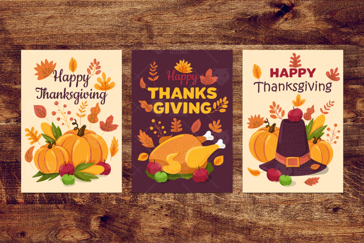 Happy Thanksgiving Day Banners Set