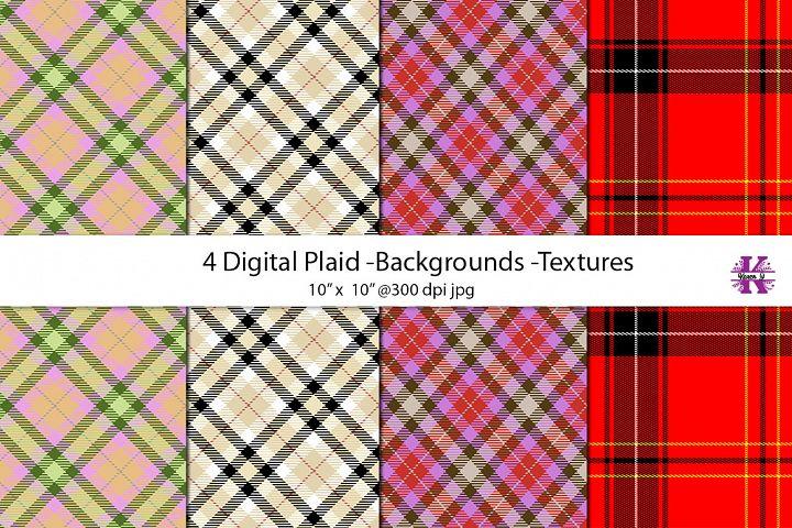 Digital Plaid Textures/Backgrounds