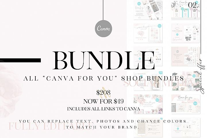 All Canva for you shop bundles
