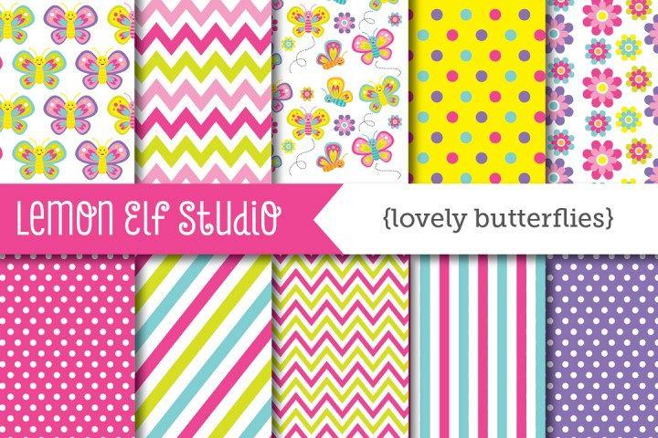 Lovely Butterflies-Digital Paper (LES.DP12)