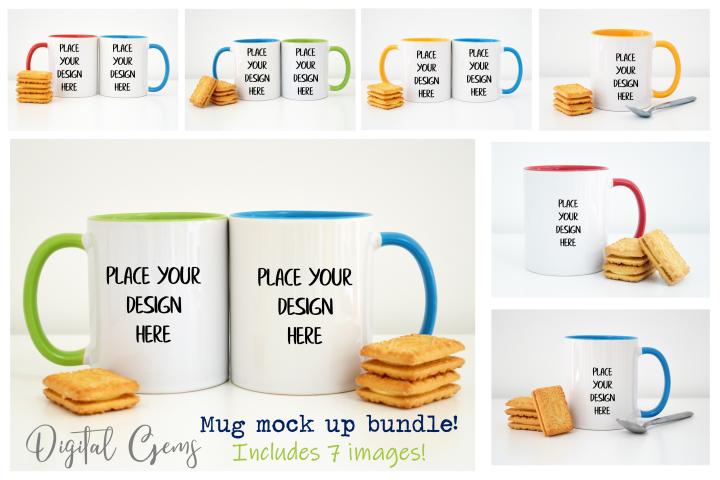 Mug mock up photographs