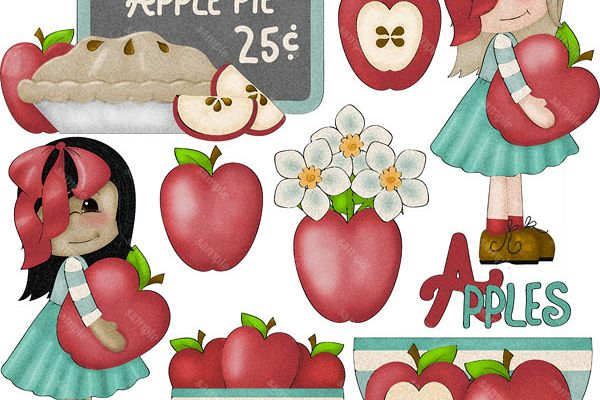 Apple Darlings 1 Clip Art