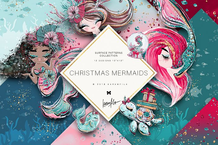 Christmas Mermaid Basic Patterns