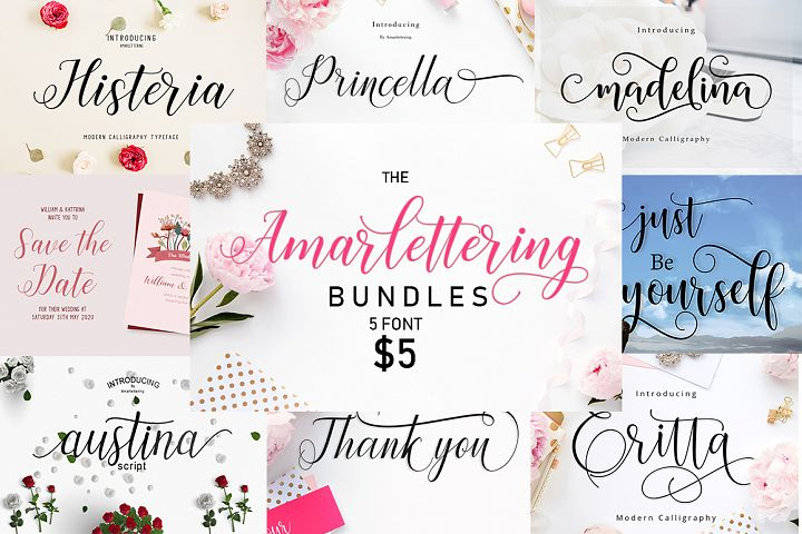 The Amarlettering Bundles Vol. I Only $5