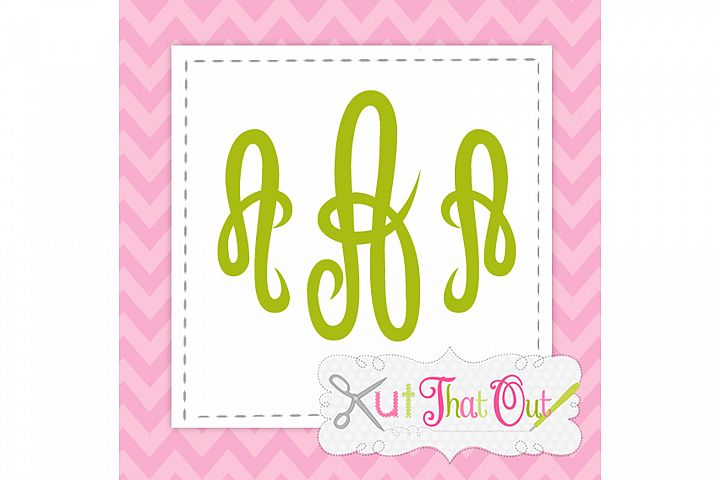 Empress Monogram Font SVG & DXF Cut File
