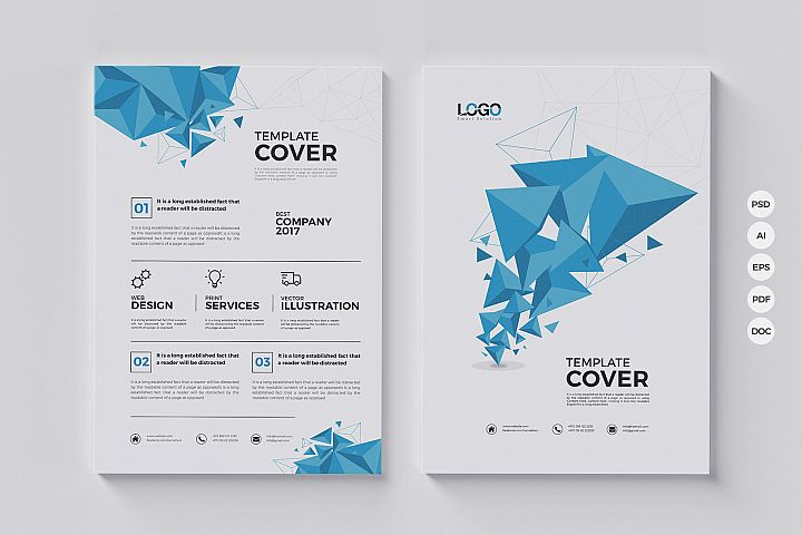 Modern Abstract Polygon Flyer