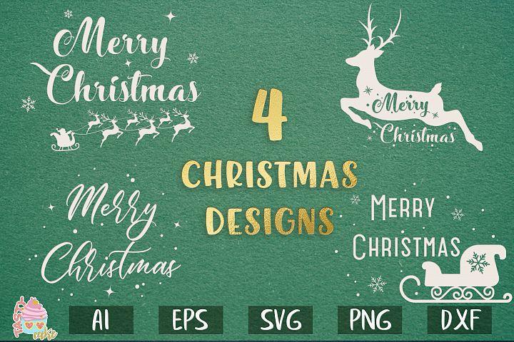 Merry Christmas Designs SVG - Christmas Sign