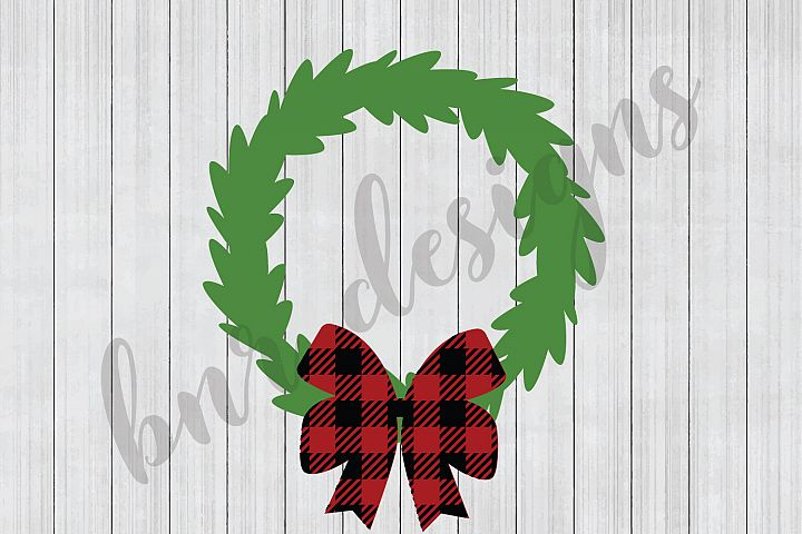 Christmas SVG, Wreath SVG, SVG Files, DXF Files
