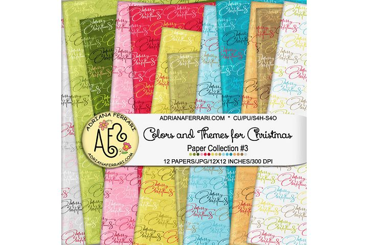 Colors and Themes for Christmas Papers 3