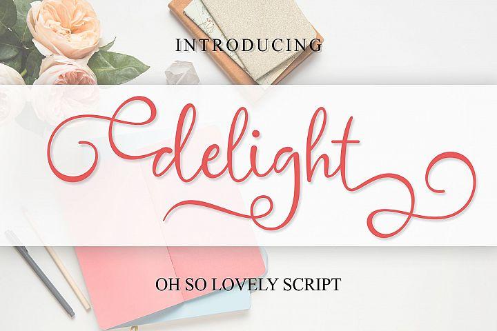 delight cute script