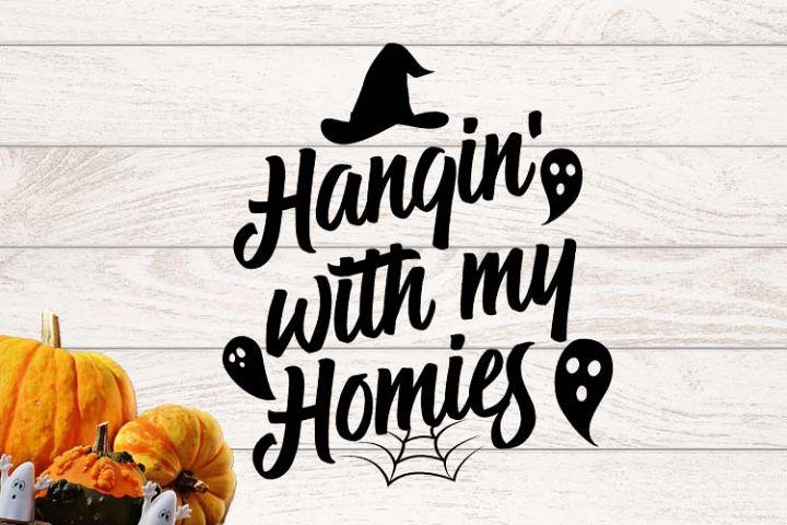 Hangin with homies Halloween SVG