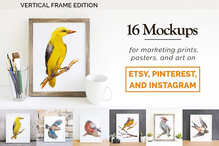 16 Etsy Friendly Print Mockups