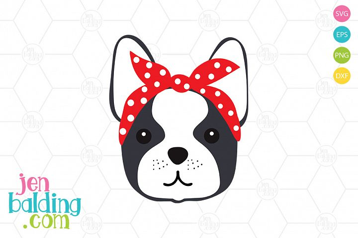 Frenchie With Bandana SVG