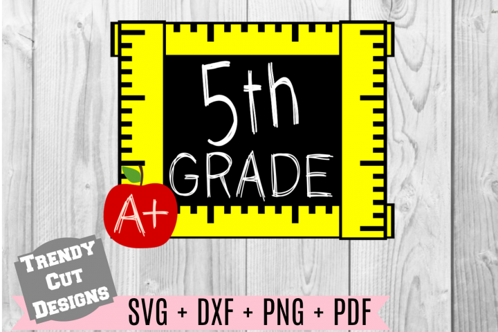 Fifth Grade Ruler Frame, Back to School