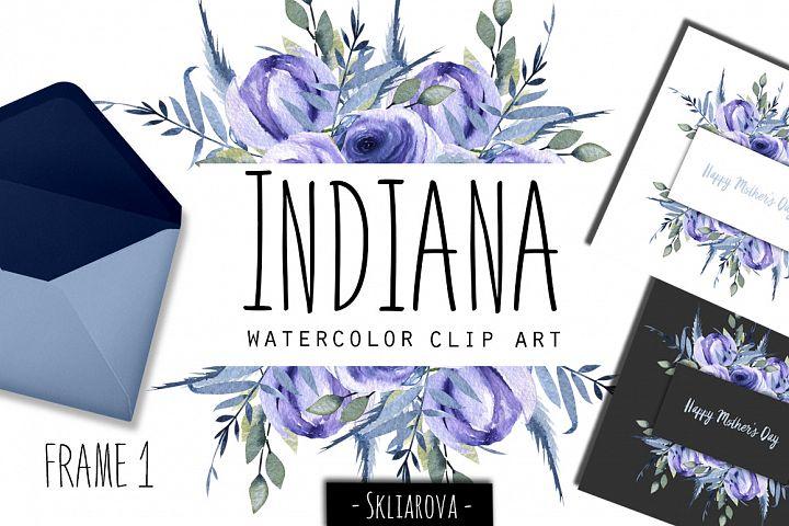 Indiana. Blue roses Frame #1.