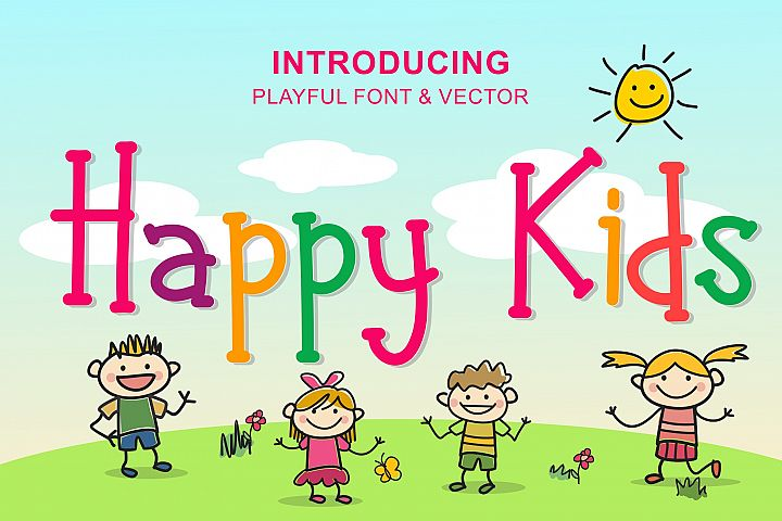 Happy Kids - Playful Font