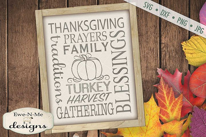 Thanksgiving Subway Design Harvest SVG DXF Files