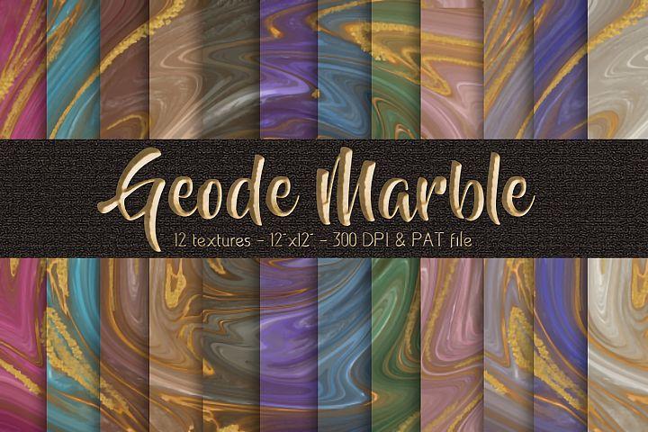 Geode Agate Marble Digital Paper Set