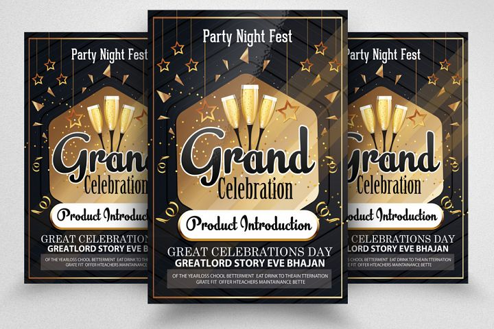 Grand Opening Party Night Flyer