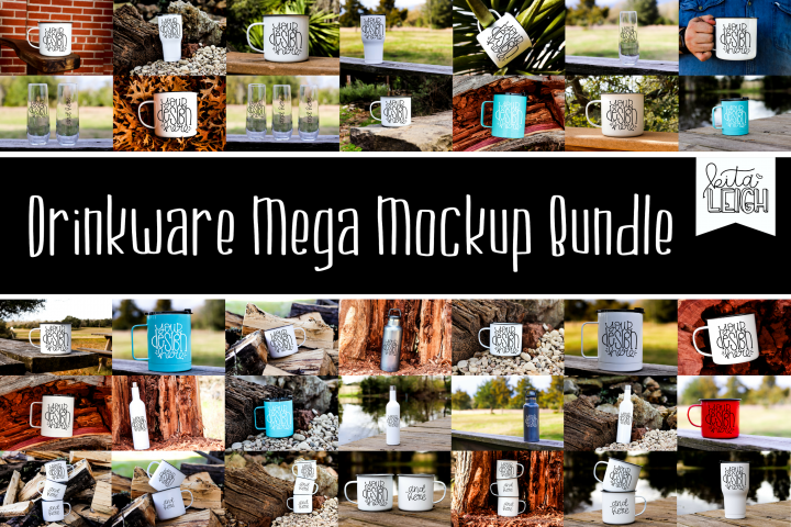 Drinkware Mega Mockup Bundle- 35 mockups included!