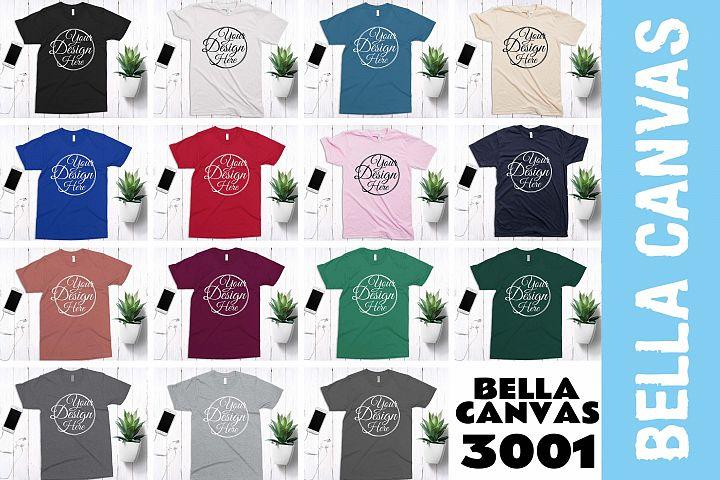 15 Mockups Bella Canvas 3001 Unisex Tshirt