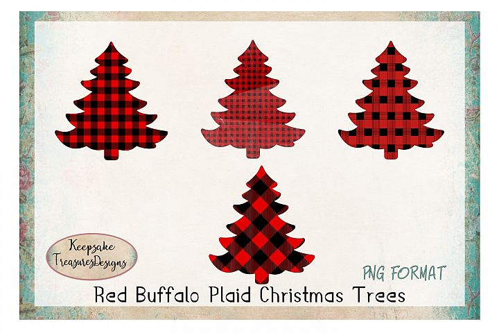 Red Buffalo Plaid Christmas Tress